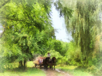 Rural Photograph - Hayride by Susan Savad
