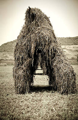 Photograph - Haystack Row by Emanuel Tanjala