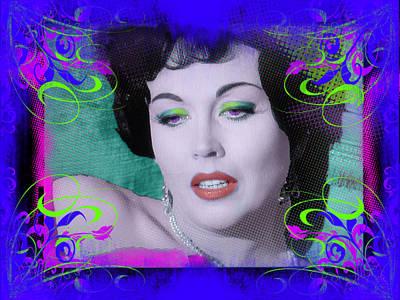 Digital Art - Hazel Court Portrait by Joe Michelli