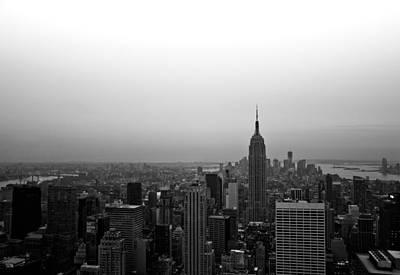 Skyline Photograph - Hazy City Of New York by Heidi Reyher