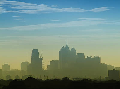 Phillies Photograph - Hazy Day In Philly by Bill Cannon