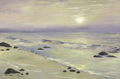 Laguna Beach Painting - Hazy Day by Lisa Reinhardt