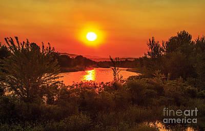 Landsacape Photograph - Hazy Sunrise by Robert Bales