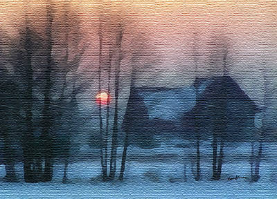 Hazy Winter Morning Art Print by Anthony Caruso