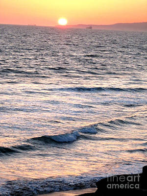 Surfing Photograph - Hb Sunset by RJ Aguilar