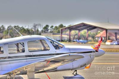 Hdr Airplane Looks Plane From Afar Under Canopy Art Print