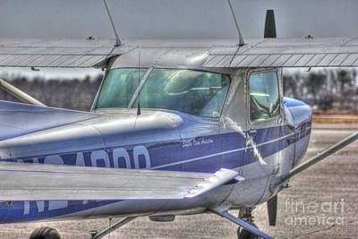 Hdr Airplane Single Prop Engine Art Print by Pictures HDR