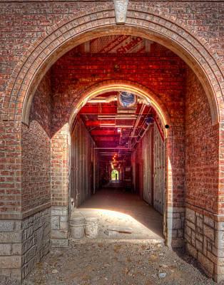 Photograph - Hdr- Brick Doorway by Joe Myeress