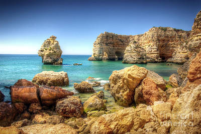 Algarve Wall Art - Photograph - Hdr Rocky Coast by Carlos Caetano