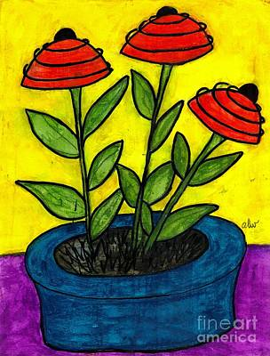 Colorful Art Journal Painting - He Gave Me A Blue Pot And I Said Thank You Honey by Angela L Walker