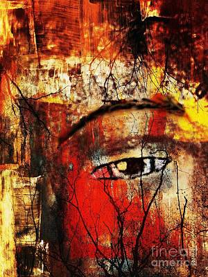 He Is Watching Art Print by Fania Simon