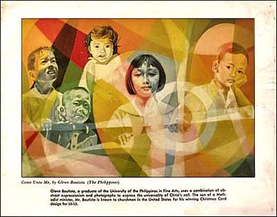 Painting - He Took Them In His Arms 1967 by Glenn Bautista