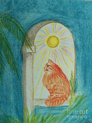 Painting - He Waits In The Eternal Light by Judy Via-Wolff
