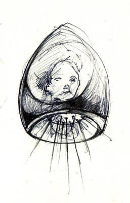 Dead Heads Drawing - Head by Ertan Aktas