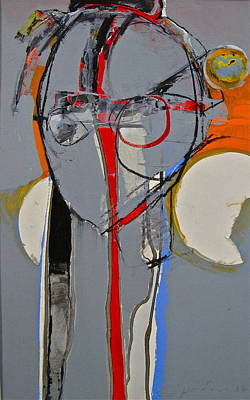Painting - Head Gray With Red by Cliff Spohn