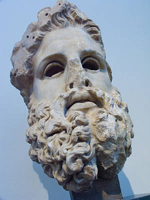 Zeus Photograph - Head Of Zeus At The Acropolis Museum by Richard Nowitz