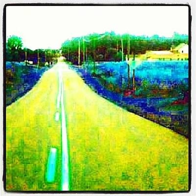 Heading Down The Road #abstract Art Print