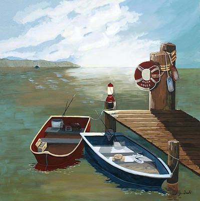 Fishing Bouys Painting - Heading Out by Jennifer  Donald