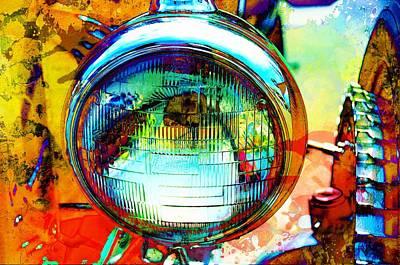 Headlight Mixed Media - Headlight Classic by Anthony George