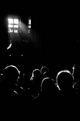 Window Of Philosophies Photograph - Heads Looking For Light Black And White by Mustafa Otyakmaz