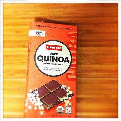 Tasty Wall Art - Photograph - Healthy Dark #chocolate With Quinoa by Shana Ray