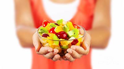 Healthy Fruit Salad Art Print by Anna Om