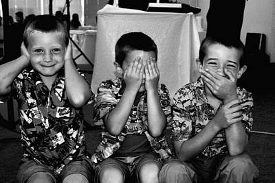 Photograph - Hear No Evil    See No Evil   Speak No Evil    Image  2 by William Meemken