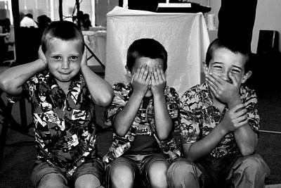 Photograph - Hear No Evil   See No Evil   Speak No Evil by William Meemken