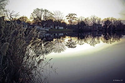 Hearns Pond Photograph - Hearns Pond Reflection by Brian Wallace