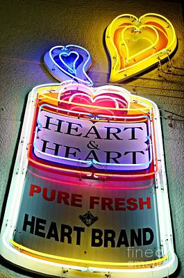 Photograph - Heart And Heart Neon by Dean Harte