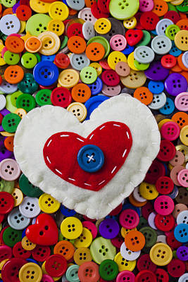 Heart Buttons Art Print