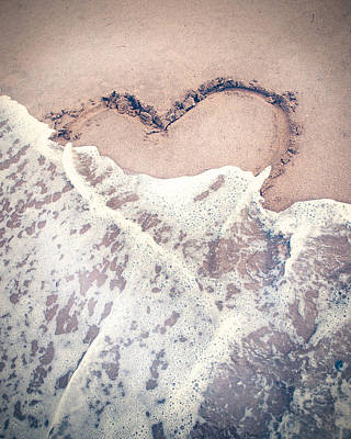 Heart Wall Art - Photograph - Heart In The Sand by Nastasia Cook