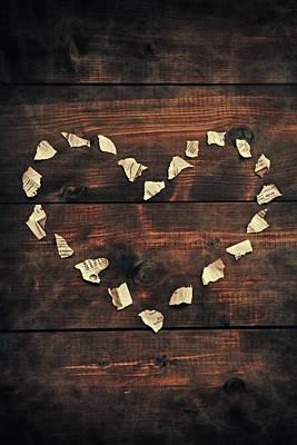 Shred Photograph - Heart by Joana Kruse