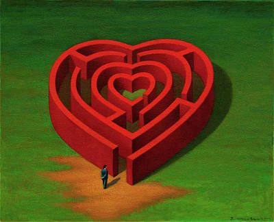 Painting - Heart by Marian  Christopher  Zacharow