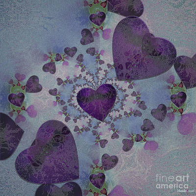 Heart Mix Blue Art Print