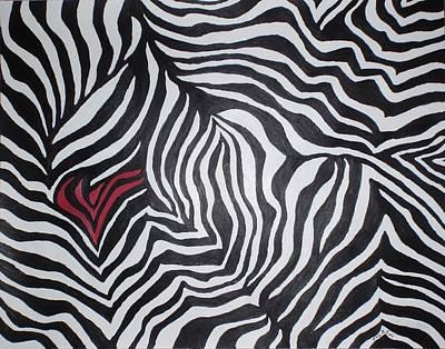 Heart Of A Zebra Original