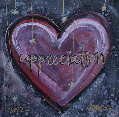 Painting - Heart Of Appreciation by Laurie Maves ART
