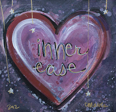Painting - Heart Of Inner Ease by Laurie Maves ART