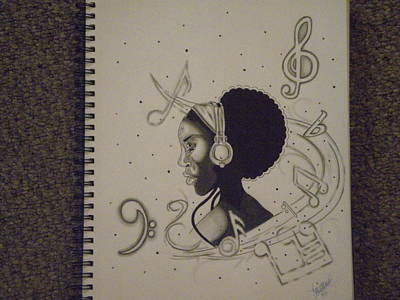 Heart Of Music Art Print by Mr Ambition