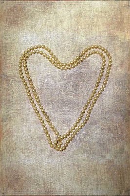 Heart Necklace Photograph - Heart Of Pearls by Joana Kruse