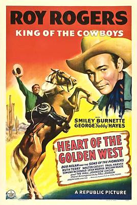 Heart Of The Golden West, Roy Rogers Art Print by Everett