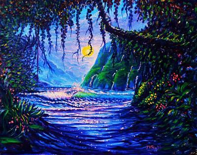 Heart Path To Paradise Art Print