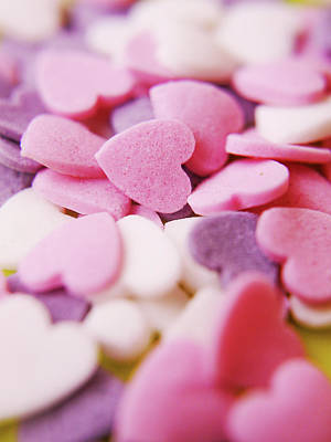 Large Group Of Objects Photograph - Heart Shaped Candies by Rolfo