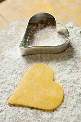 Photograph - Heart Shaped Christmas Cookie by Matthias Hauser