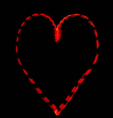 Heart-shaped Lights Photograph - Heart by Steve Williams