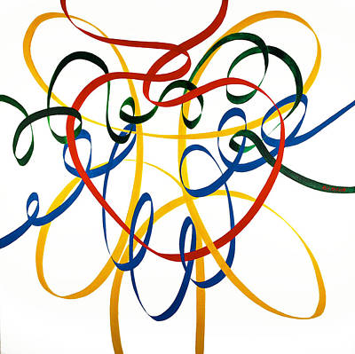 Wall Art - Painting - Heart Strings by Neil McBride