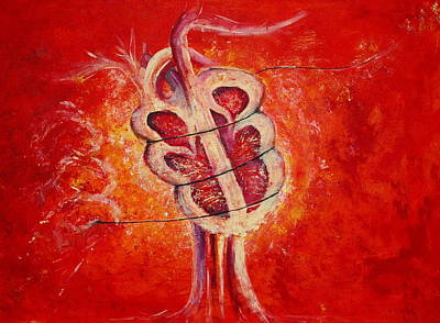 Painting - Heart Strings by Sheep McTavish