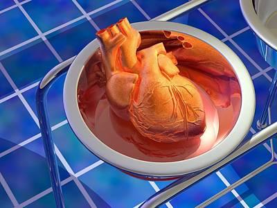 Heart Surgery, Artwork Art Print by Laguna Design