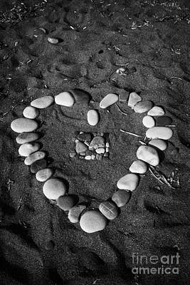 Heart Symbol Made Out Of Pebbles On The Beach At Aphrodites Rock Petra Tou Romiou Cyprus Art Print by Joe Fox
