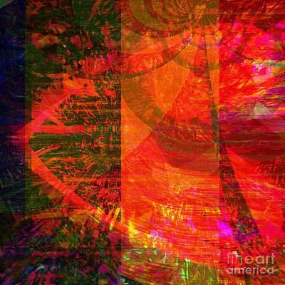 Yesayah Mixed Media - Heart Too Red  by Fania Simon